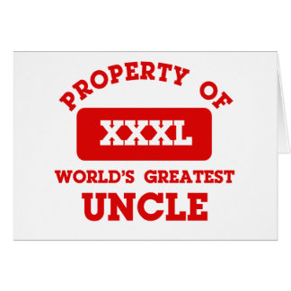 Property of world's greatest uncle card
