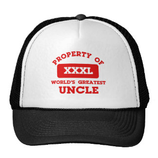 Property of world's greatest uncle hat