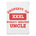 Property of world's greatest uncle iPad mini cases