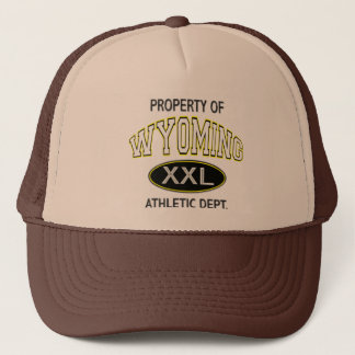 PROPERTY OF WYOMING ATHLETIC DEPT. TRUCKER HAT