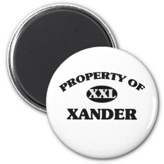 Property of XANDER Refrigerator Magnets