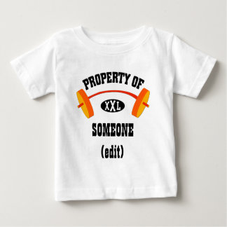 Property of XXL baby / infant t (add name / txt) Baby T-Shirt
