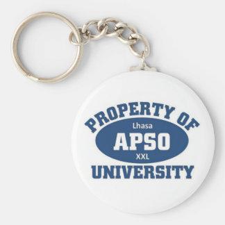 Property of xxl Lhsa Apso university Basic Round Button Keychain