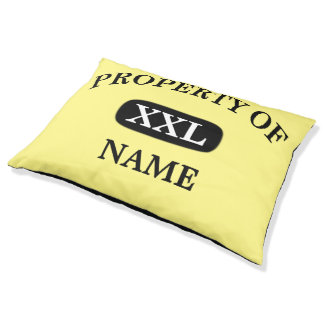 Property of XXL Pet's Name Outdoor Dog Bed