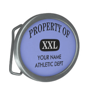Property of XXL Your Name Belt Buckle