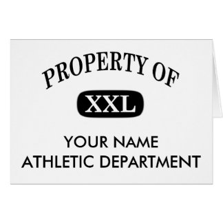 Property of XXL Your Name Card