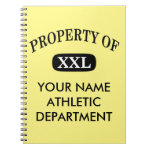 Property of XXL Your Name Notebook