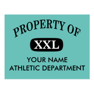Property of XXL Your Name Postcard
