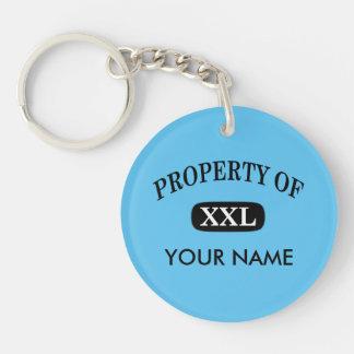Property of XXL Your Name Single-Sided Round Acrylic Keychain