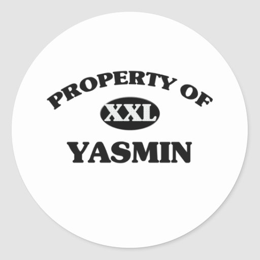 Property of YASMIN Sticker