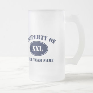Property of Your Fantasy Team Frosted Glass Beer Mug