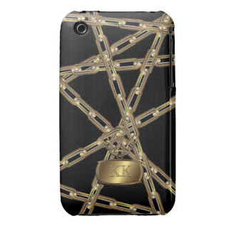 Property Of / Your Initials / Chain Protected iPhone 3 Covers