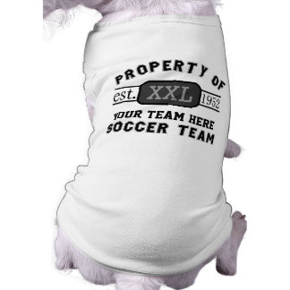 Property of Your Soccer Team Custom Name Tee