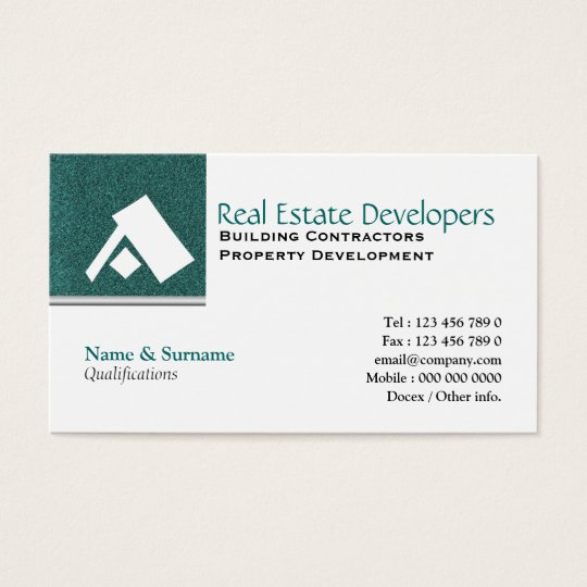Property real estate monogram A Business Card