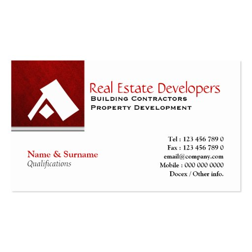 Real estate business card templates page20 bizcardstudio for Real estate business cards templates free