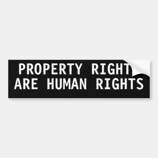 Property rights are human rights car bumper sticker
