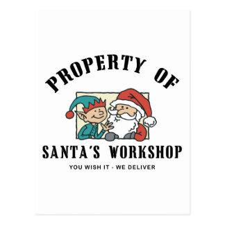 Property Santa's Workshop Gift Postcard