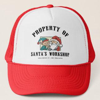 Property Santa's Workshop Gift Trucker Hat