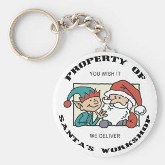 Property Santa's Workshop Keychain