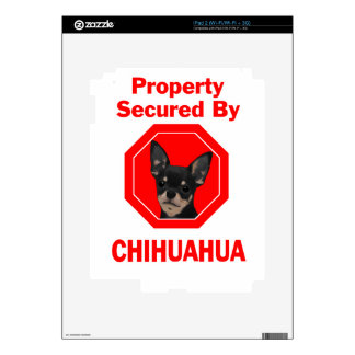 Property Secured by Chihuahua Skin For The iPad 2