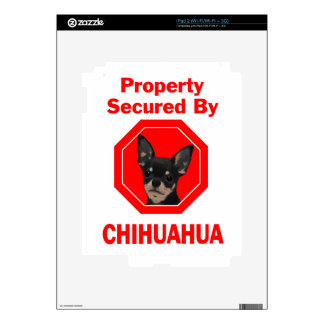 Property Secured by Chihuahua Skins For The iPad 2