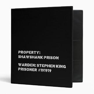 Property: Shawshank Prison Binder