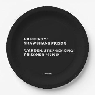 Property: Shawshank Prison Paper Plate