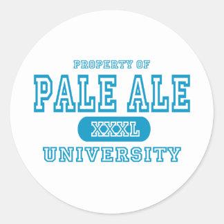 property university cyan pale ale for black T Classic Round Sticker