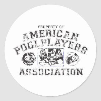 Propery of APA - Distressed Classic Round Sticker