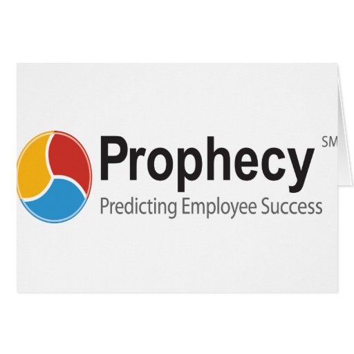 Prophecy logo greeting card