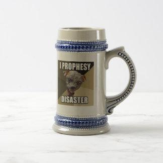 Prophesy la cerveza Stein del desastre Jarra De Cerveza