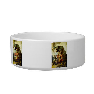 Prophet Balaam and the donkey by Rembrandt Cat Food Bowl