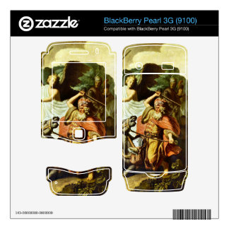 Prophet Balaam and the donkey by Rembrandt BlackBerry Decal