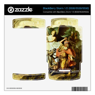 Prophet Balaam and the donkey by Rembrandt Skin For BlackBerry