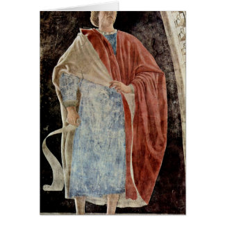 Prophet. By Piero Della Francesca Greeting Card
