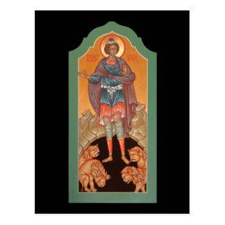 Prophet Daniel in the Lions Den Prayer Card