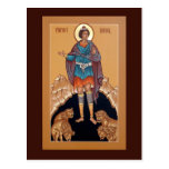 Prophet Daniel in the Lion's Den Prayer Card Postcard