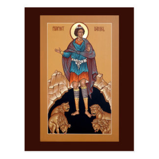Prophet Daniel in the Lion's Den Prayer Card Postcards