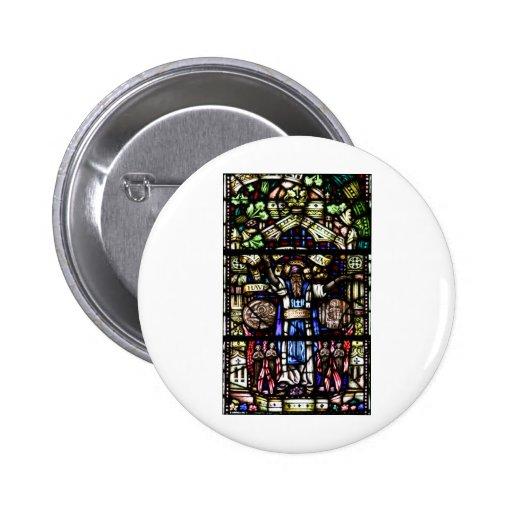 Prophet Isaiah Stained Glass Art Pinback Buttons