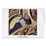Prophet Moses By Gentile Da Fabriano Greeting Cards