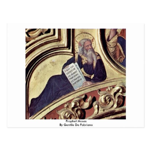 Prophet Moses By Gentile Da Fabriano Postcards
