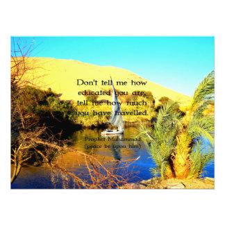 Prophet Muhammad Travel Inspirational Quotation Photo Print