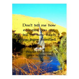 Prophet Muhammad Travel Inspirational Quotation Postcard