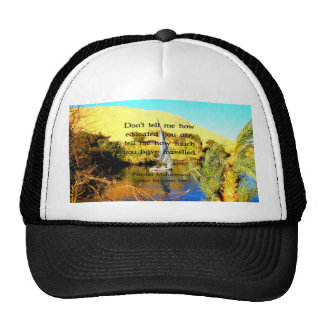 Prophet Muhammad Travel Inspirational Quotation Trucker Hat