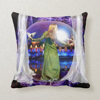 prophetic art created by Dolores DeVelde Throw Pillow