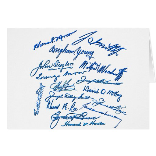 Prophets Autographs Greeting Cards