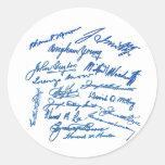 Prophets Autographs Classic Round Sticker