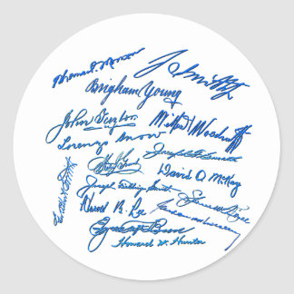 Prophets Autographs Round Stickers