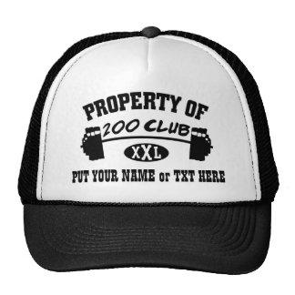 Propiedad 200 del gorra/del casquillo del club XXL
