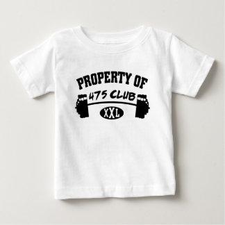 Propiedad 475 de la camiseta infantil del niño del playera